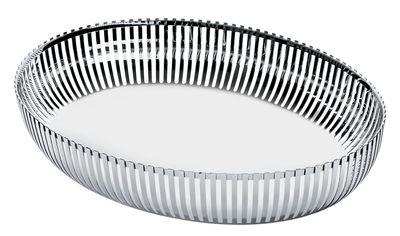 Arts de la table - Corbeilles, centres de table - Corbeille PCH06 par Pierre Charpin / Ovale 26x20 cm - Alessi - Acier - Acier inoxydable
