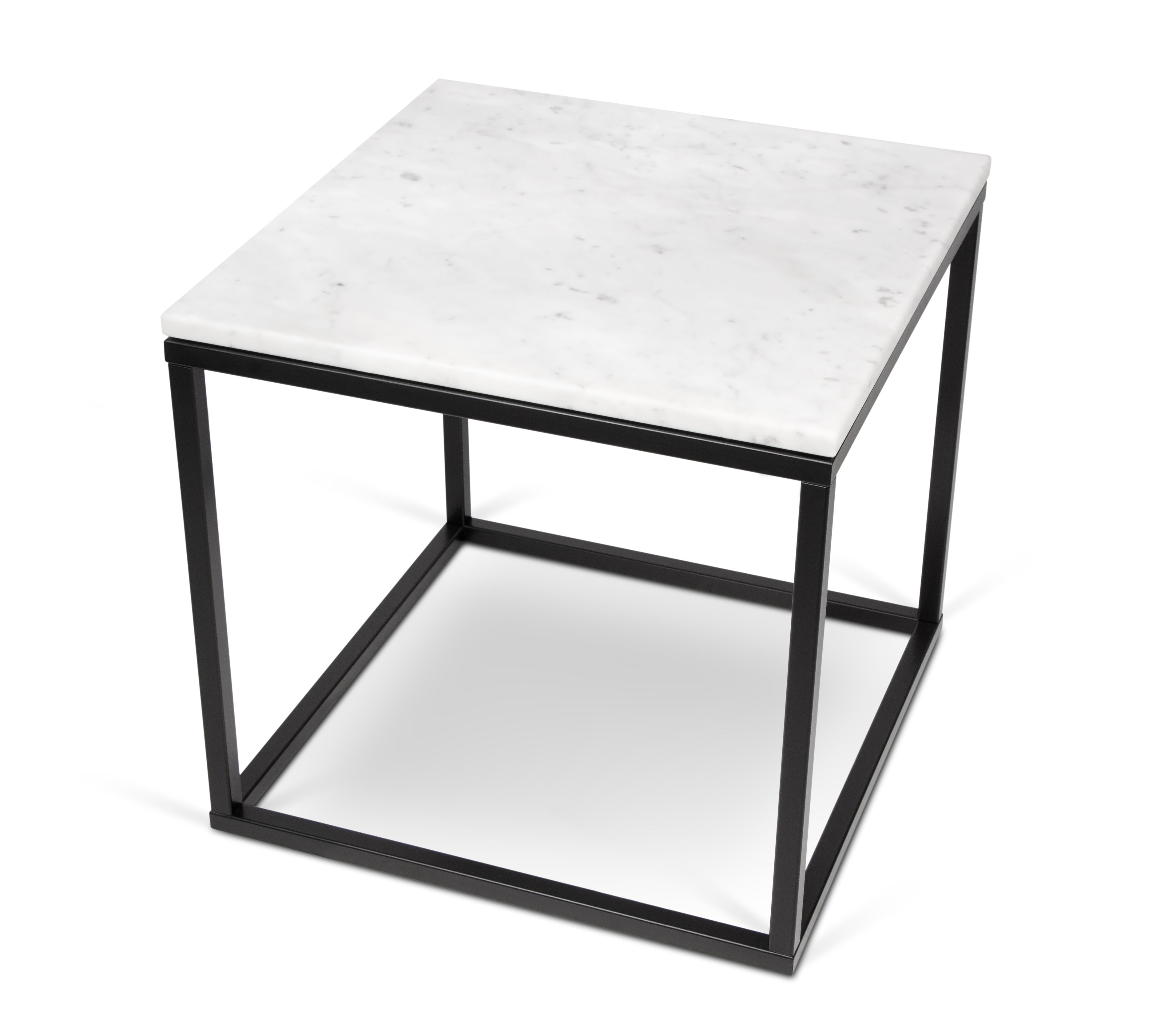 marble couchtisch marmor 50 x 50cm wei er marmor tischgestell schwarz by pop up home. Black Bedroom Furniture Sets. Home Design Ideas