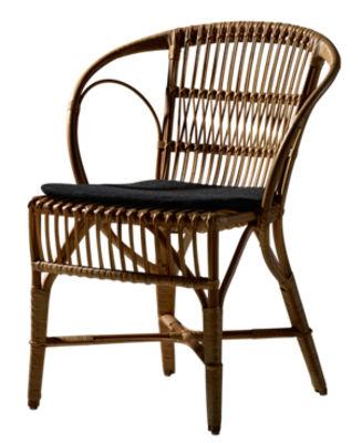 Coussin d'assise Pour fauteuil Wengler Sika Design noir en tissu