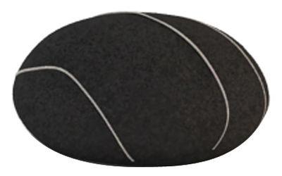 Mobilier - Mobilier Ados - Coussin Hervé Livingstones / Laine - 41x36 cm - Smarin - Noir - Fibres poly-siliconées, Laine