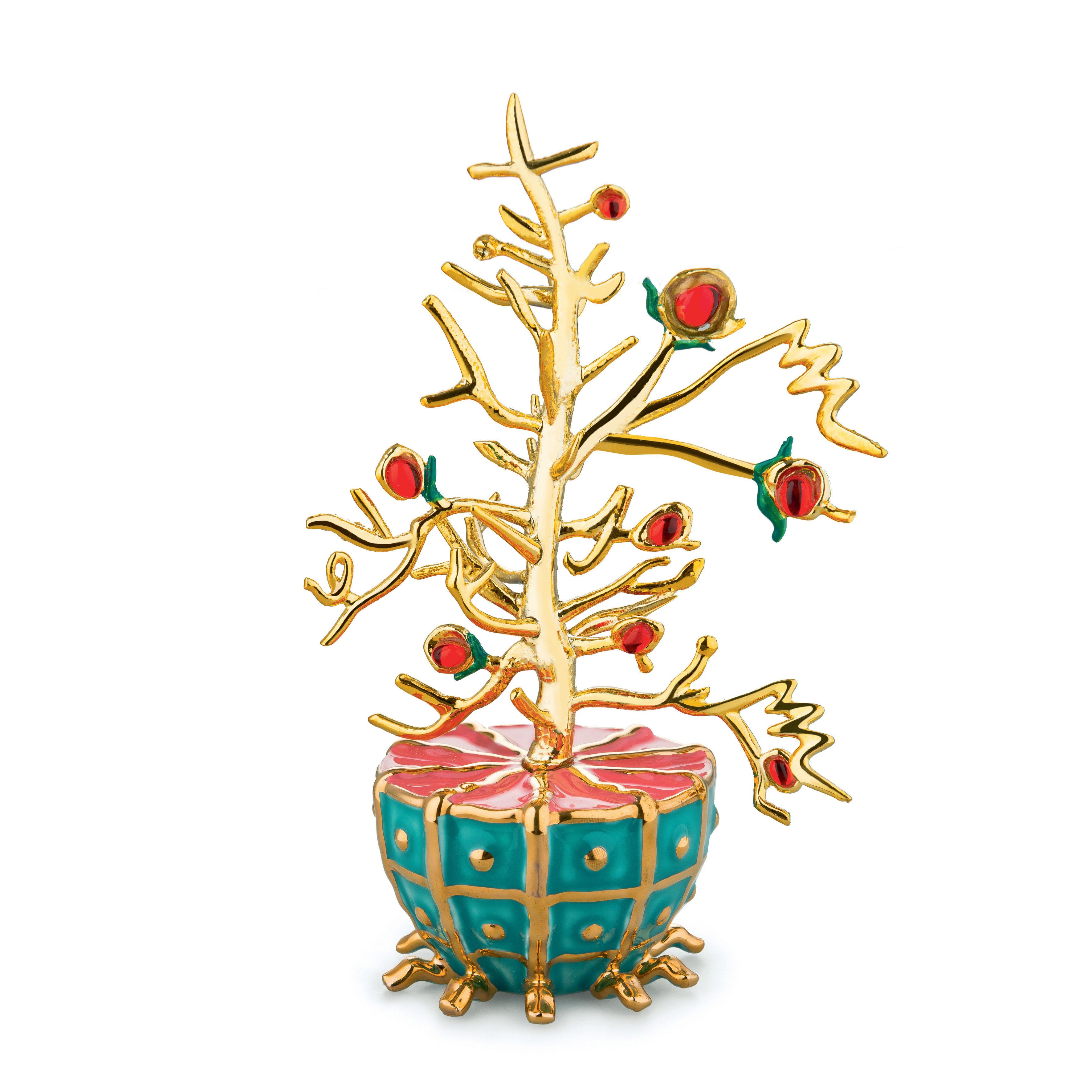 Déco - Objets déco et cadres-photos - Décoration L'Albero del Bene / Porcelaine peinte main - Alessi - Or - Porcelaine