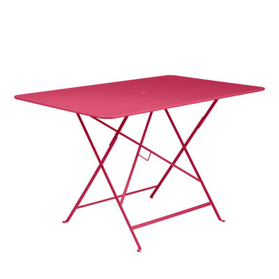 Outdoor - Garden Tables - Bistro Foldable table - / 117 x 77 cm - 6 people - Parasol hole by Fermob - Praline pink - Painted steel