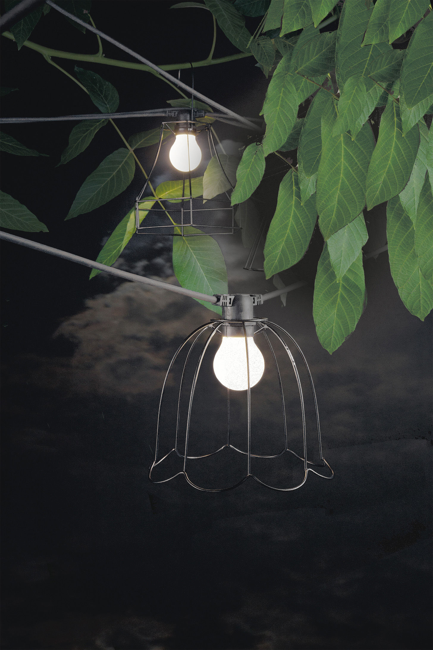 guirlande lumineuse bella vista led seletti - câble rose / ampoules