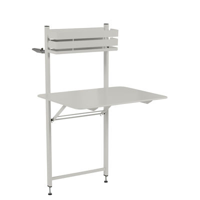 Outdoor - Tische - Bistro Klapptisch / Herunterklappbar - 77 x 64 cm - Fermob - Lehmgrau - bemalter Stahl