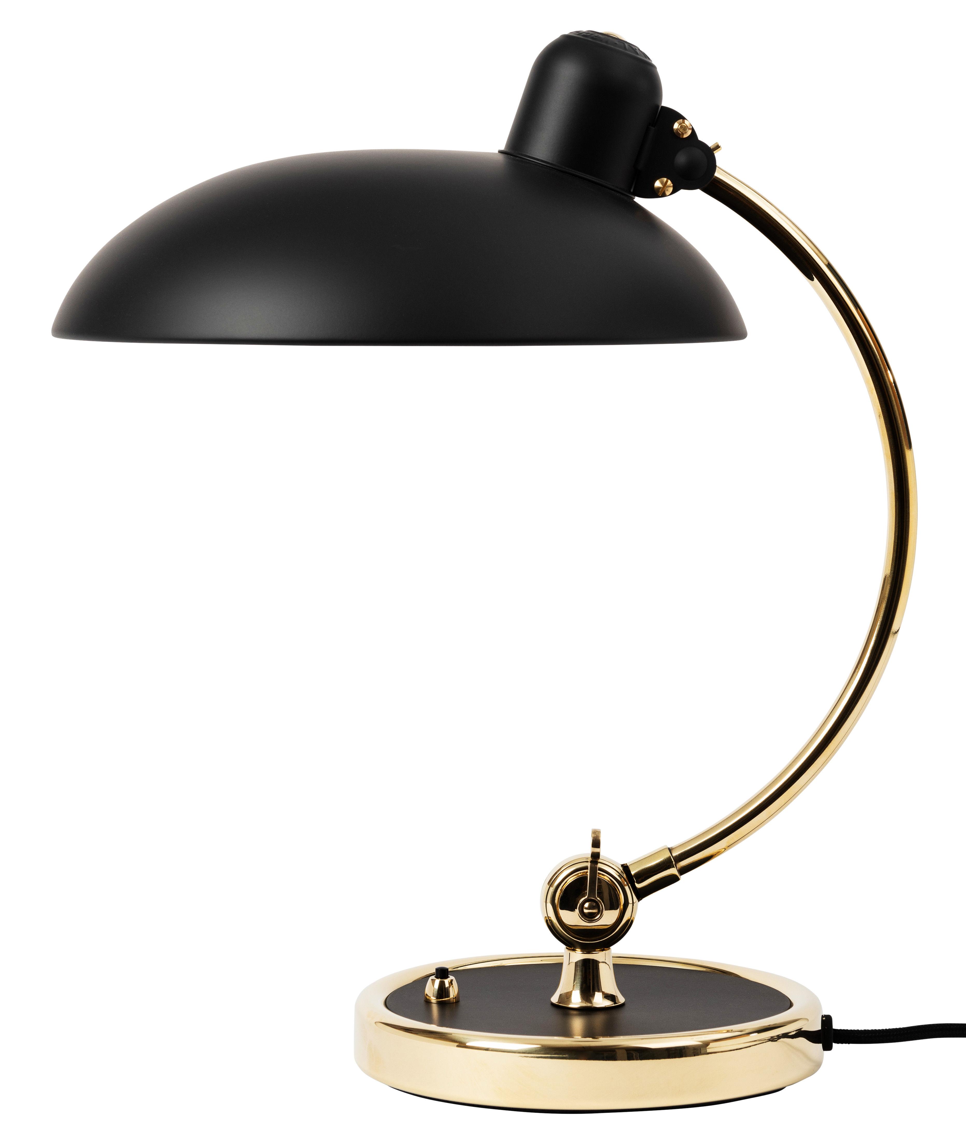 Illuminazione - Lampade da tavolo - Lampada da tavolo Kaiser idell - / Riedizione 1930 - Edizione limitata di Fritz Hansen - Nero opaco / Ottone lucidato - Acciaio verniciato, Ottone lucido