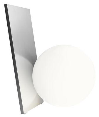 Lampe de table Extra T LED / Verre soufflé & métal - H 35 cm - Flos blanc,argent en métal