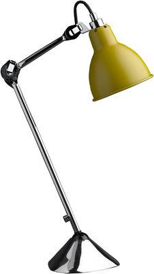 Lampe de table N°205 / Lampe Gras - DCW éditions chromé,jaune mat en métal