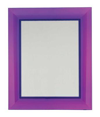 Miroir mural Francois Ghost / Large - 88 x 111 cm - Kartell violet en matière plastique