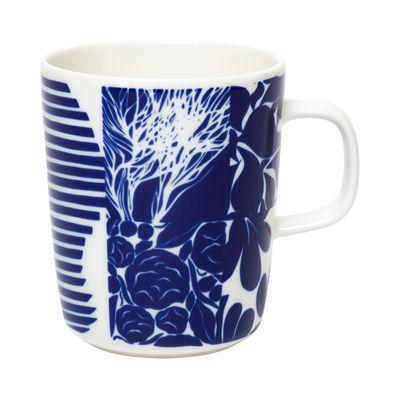 Arts de la table - Tasses et mugs - Mug Ruudut / 25 cl - Marimekko - Ruudut / Blanc, bleu - Grès