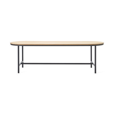 Outdoor - Garden Tables - Wicked Oval table - / 200 x 90 cm - Teak by Vincent Sheppard - L 200 cm / Teak & black - Solid teak, Thermolacquered aluminium