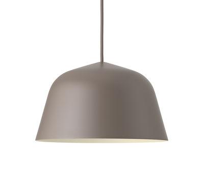 Leuchten - Pendelleuchten - Ambit Pendelleuchte / Ø 25 cm - Metall - Muuto - Taupe - Aluminium