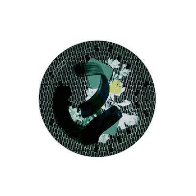 Image of Piano/vassoio Vibration Emeraude - / Ø 39 cm di Ibride - Multicolore - Materiale plastico