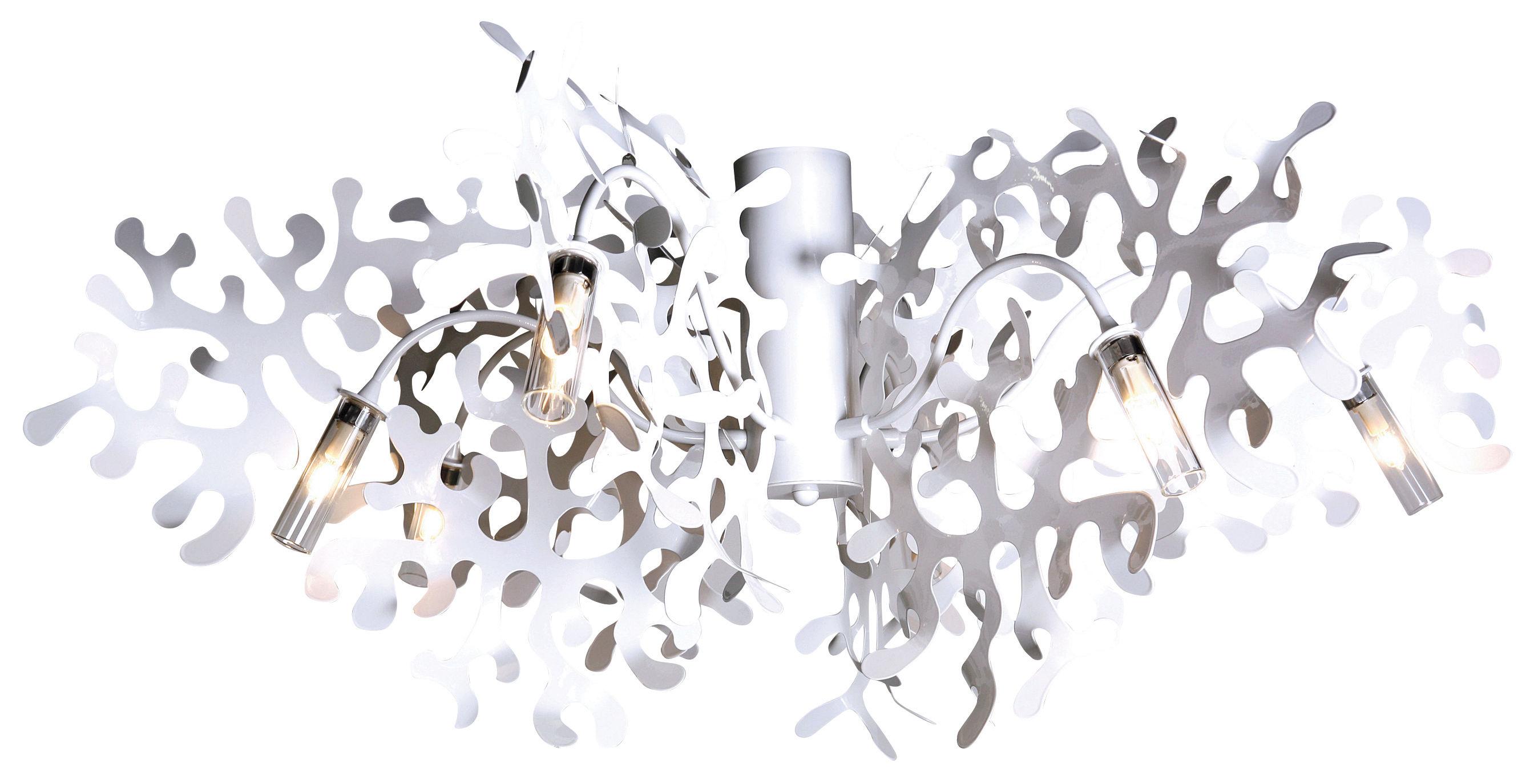 Illuminazione - Plafoniere - Plafoniera Coral di Lumen Center Italia - Bianco - metallo laccato