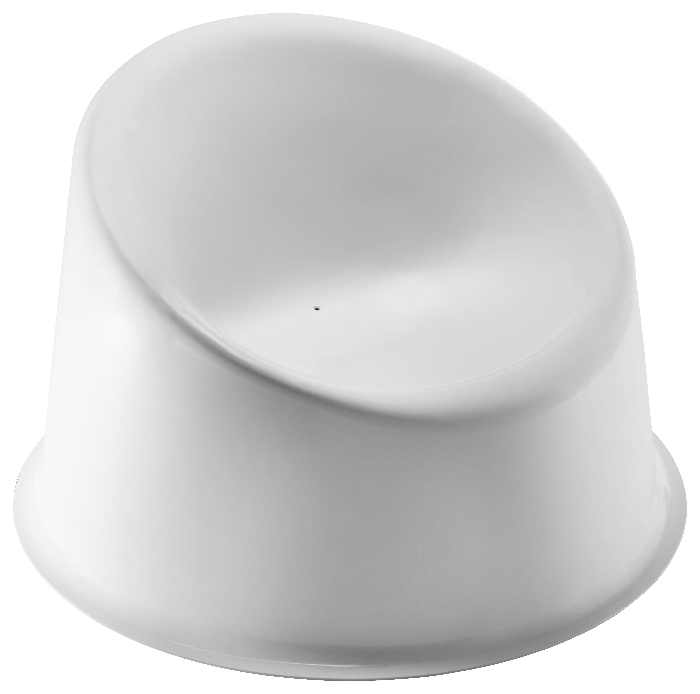 Arredamento - Poltrone design  - Poltrona bassa Panto Pop - / Panton 1969 di Verpan - Bianco - Materiale plastico