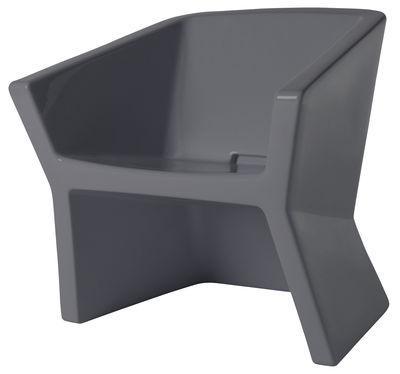 Arredamento - Sedie  - Poltrona Exofa di Slide - Grigio antracite - Polietilene
