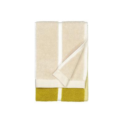 Déco - Textile - Serviette de toilette Tiiliskivi / 30 x 50 cm - Marimekko - Tiiliskivi / Vert, sable, doré - Coton éponge