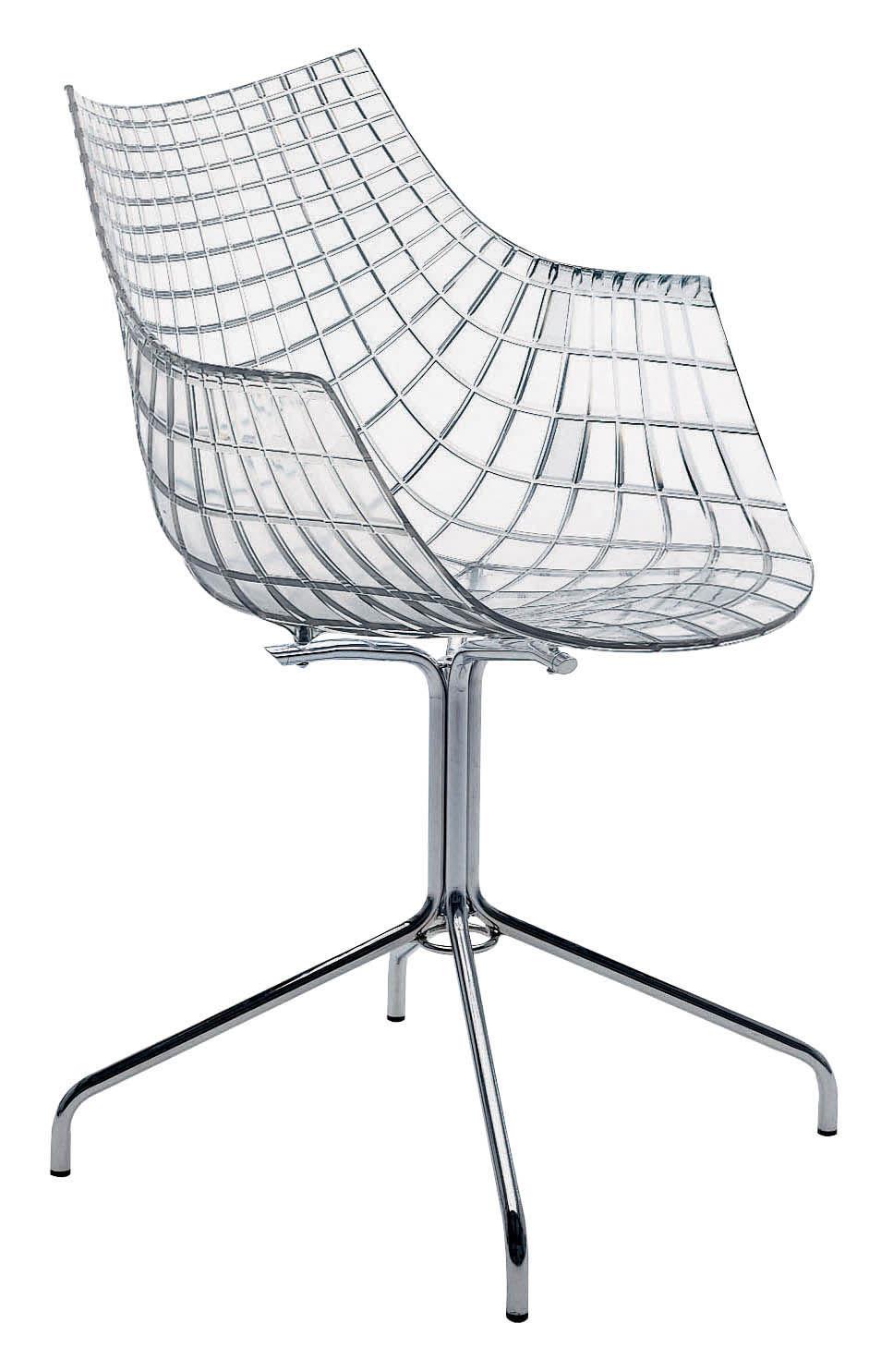Möbel - Stühle  - Meridiana Sessel - Driade - Transparent - Polykarbonat, verchromter Stahl