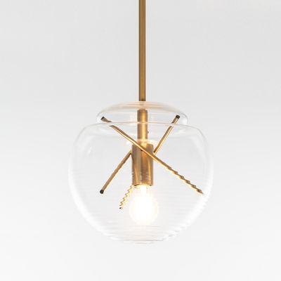 Illuminazione - Lampadari - Sospensione Vitruvio - / Vetro soffiato - Ø 40 cm di Artemide - Ottone & trasparente - Ottone, vetro soffiato