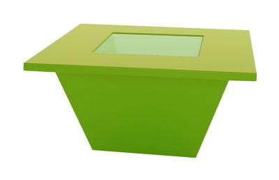 Table basse Bench / Plateau en verre - Slide vert en verre