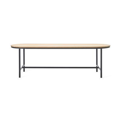 Outdoor - Tables de jardin - Table ovale Wicked / 200 x 90 cm - Teck - Vincent Sheppard - L 200 cm / Teck & noir - Aluminium thermolaqué, Teck massif