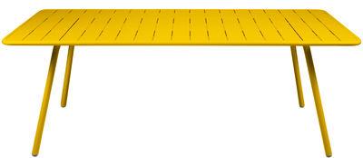 Table Luxembourg / 8 personnes - 207 x 100 cm - Aluminium - Fermob miel en métal