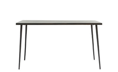 Table rectangulaire Slated / Bois & métal - 140 x 80 cm - House Doctor noir en bois