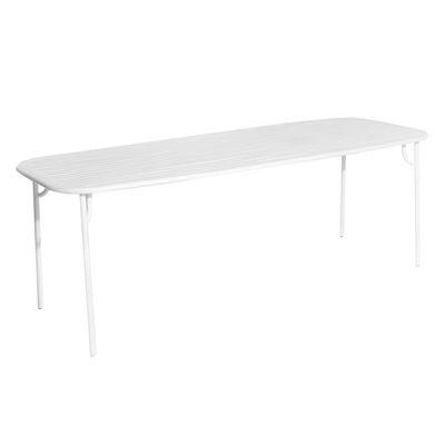 Table rectangulaire Week-End / 220 x 85 cm - Aluminium - Petite Friture blanc en métal