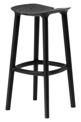Mobilier - Tabourets de bar - Tabouret de bar Osso / H 75 cm - Bois - Mattiazzi - Noir - Frêne teinté