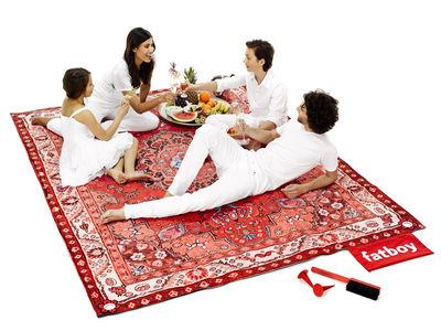 Tapis d'extérieur Picnic Lounge / 280 x 210 cm - Fatboy rouge en tissu