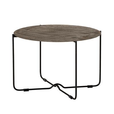 Arredamento - Tavolini  - Tavolino Adele - / Ø 63,5 cm - Metallo patinato di Bloomingville - Marrone patinato / Piede Nero - Ferro