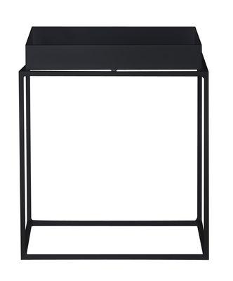 Image of Tavolino Tray - h 30 cm - 30 x 30 cm di Hay - Nero - Metallo