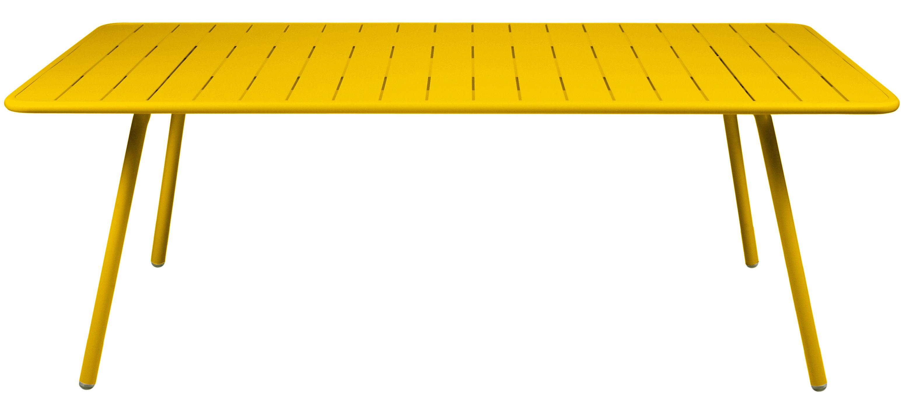 Life Style - Tavolo rettangolare Luxembourg - / 8 persone - L 207 cm di Fermob - Miele - Alluminio laccato