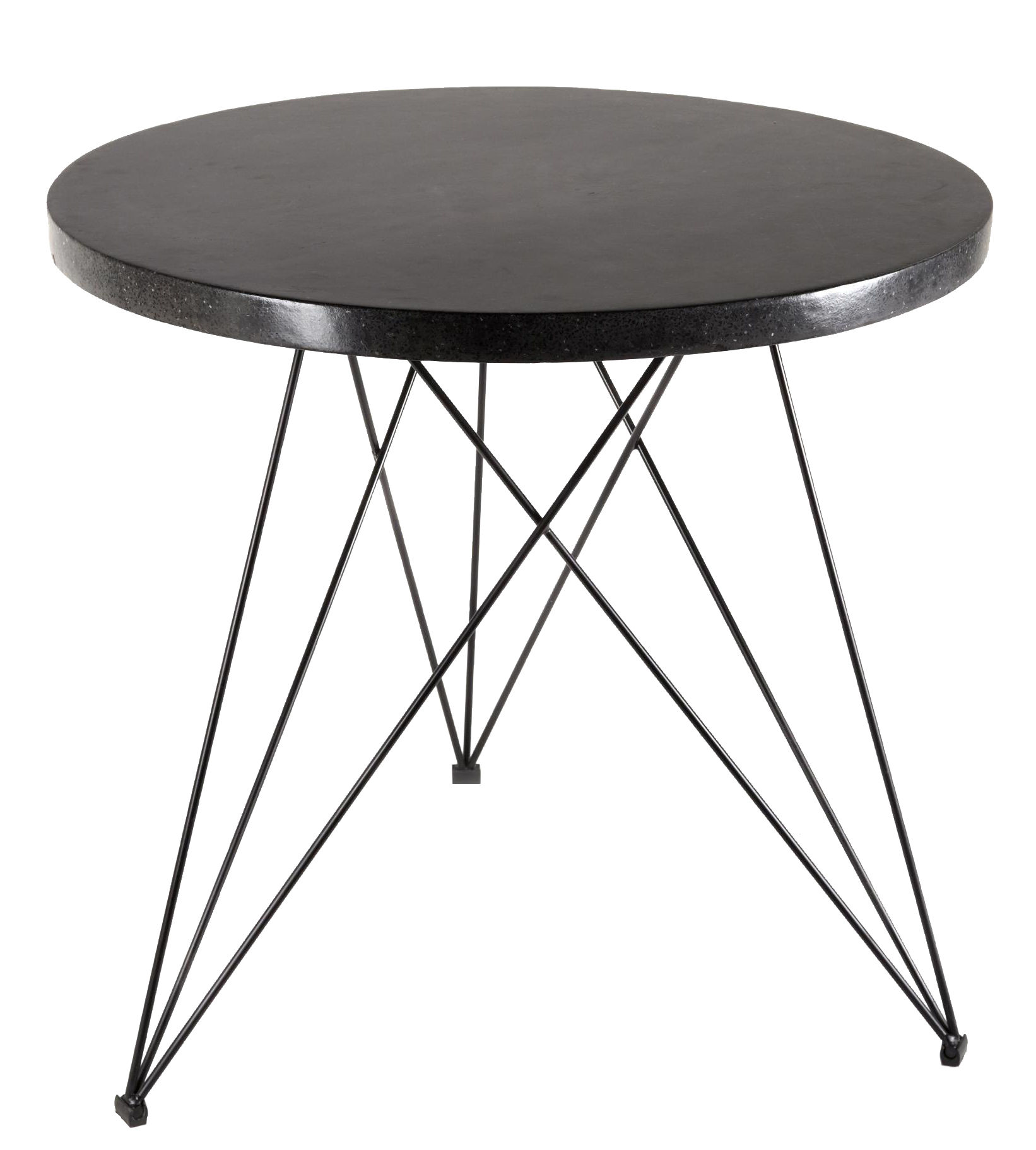 Arredamento - Tavoli - Tavolo rotondo Sticchite - / Ø 80 cm - Terrazzo di Serax - Terrazzo nero / Gamba nera - Ferro dipinto, Terrazzo