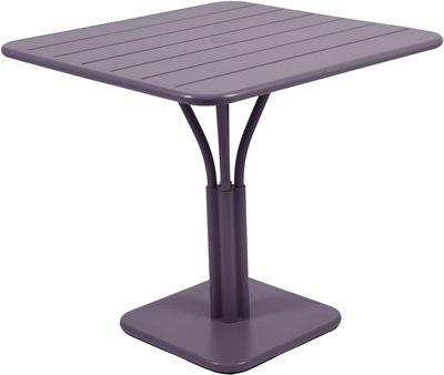 Luxembourg Tisch / einbeiniger Tisch - für 2 bis 4 Personen - 80 x 80 cm - Fermob - Pflaume