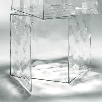 Möbel - Couchtische - Optic Ablage mit Tür - Kartell - Kristall transparent - PMMA