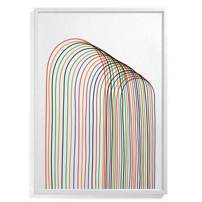 Affiche encadrée Pierre Charpin - Loop 2 / Edition limitée & numérotée - 81 x 110 cm - The Wrong Shop multicolore en papier