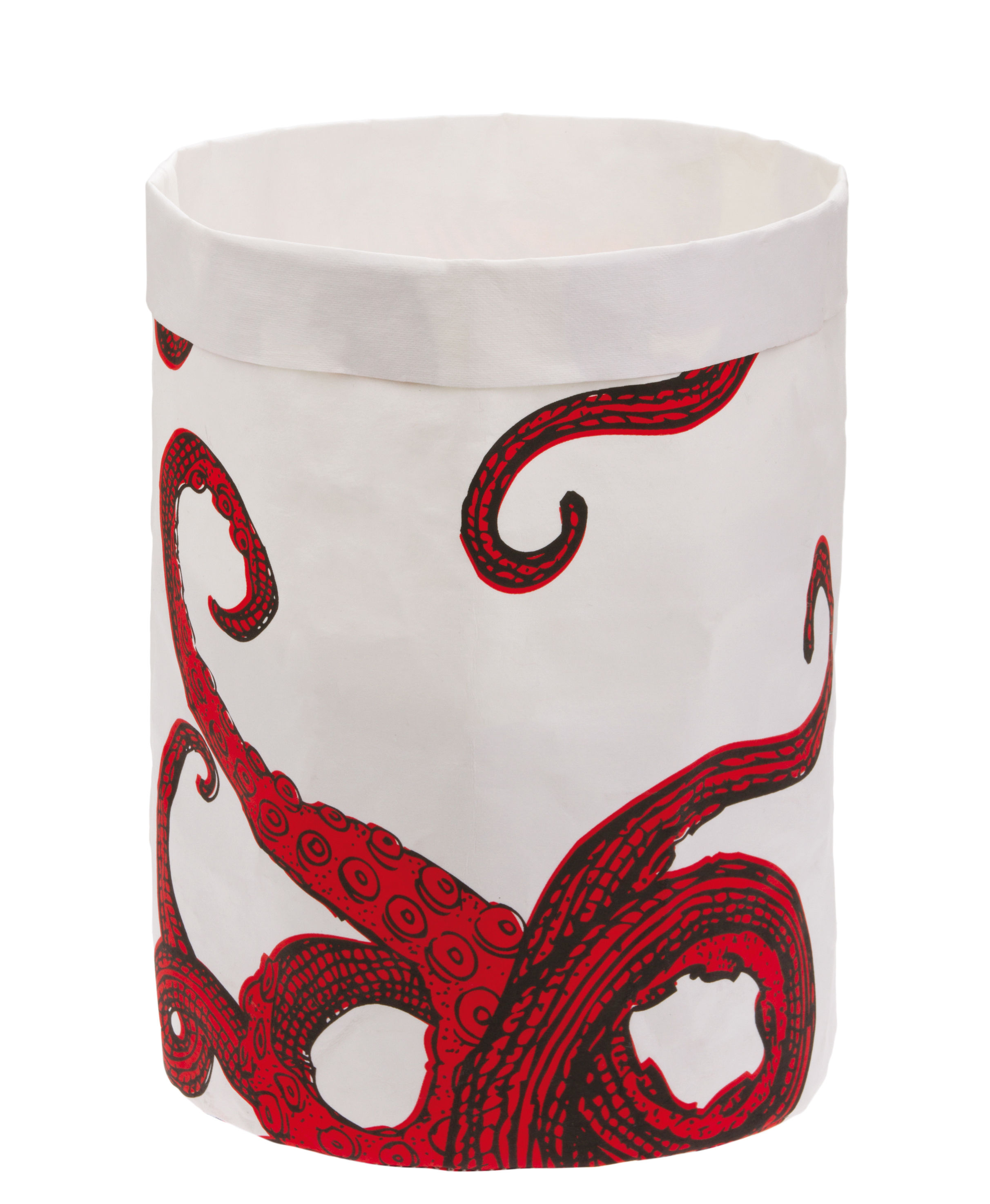 Decoration - Children's Home Accessories - Poulp'Boot Basket - Washable paper- Ø 20 x H 30 cm by Gangzaï design - Octopus - Washable kraft paper
