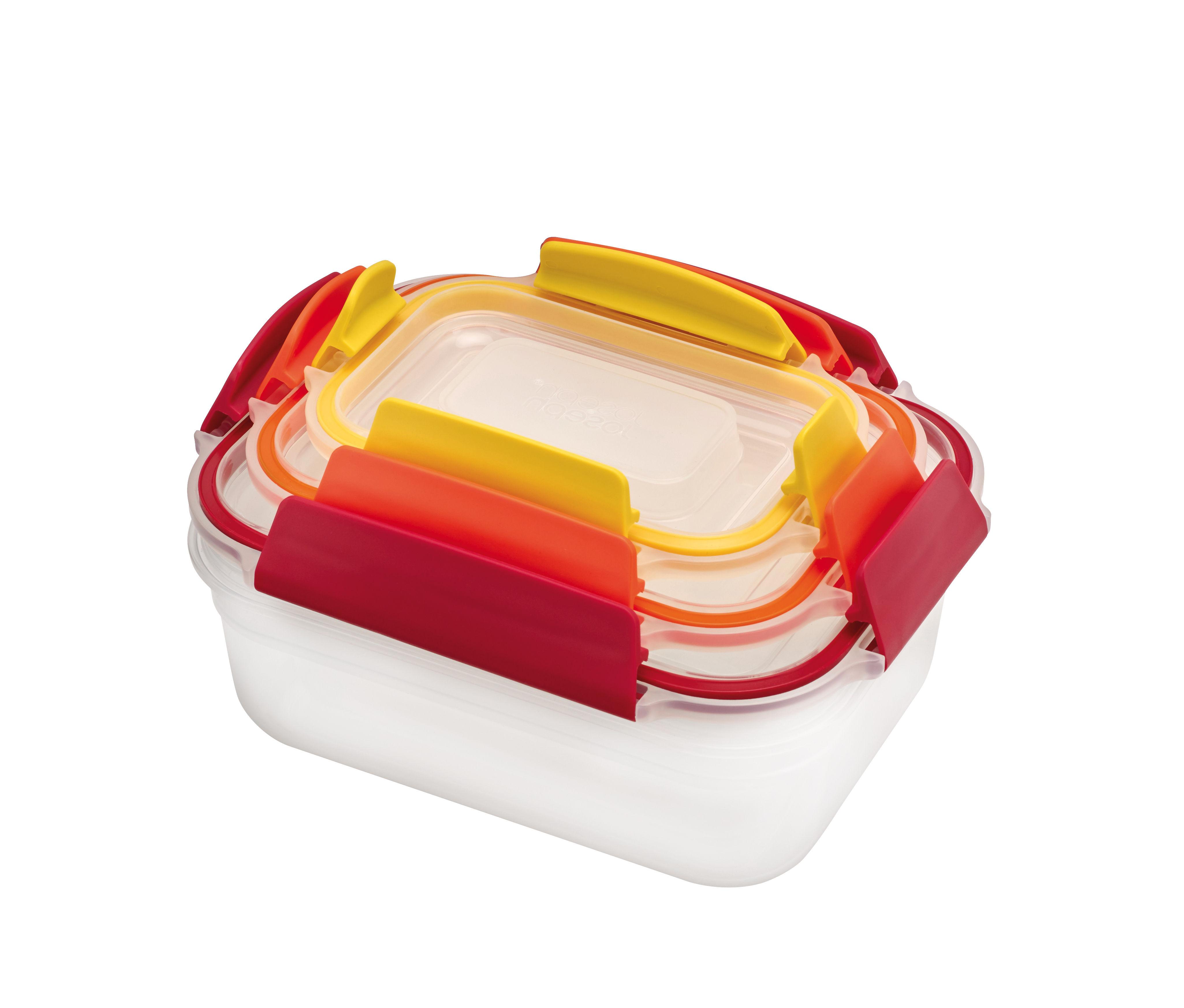 Cuisine - Boîtes, pots et bocaux - Boîte hermétique Nest Lock / Set de 3 emboitables - Multi-tailles - Joseph Joseph - 3 boîtes / Multicolore - Plastique sans BPA