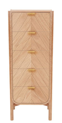 Furniture - Shelves & Storage Furniture - Marius Chiffonier - H 130 x L 45 cm by Hartô - Natural oak - MDF veneer oak, Solid oak
