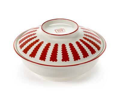 Tavola - Ciotole - Ciotola da minestra - / Con coperchio di Serax - Rosso & bianco - Porcellana
