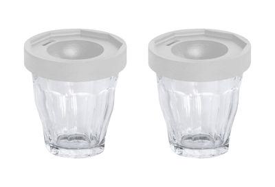 Coquetier Cot-Cot / Set de 2 - Verres Duralex - Designerbox transparent,gris clair en verre