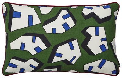 Déco - Coussins - Coussin Printed / by Nathalie du Pasquier - 57 x 35 cm - Hay - Ice / Vert -  Plumes, Coton