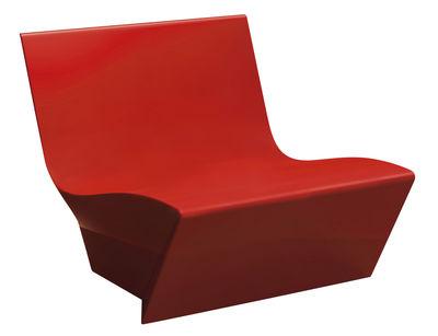 Fauteuil bas Kami Ichi - Slide rouge en matière plastique