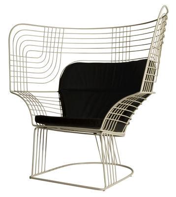 Mobilier - Mobilier d'exception - Fauteuil Link Easy Chair - Tom Dixon - Fauteuil blanc - Acier verni
