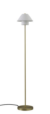 Lighting - Floor lamps - Oxford Double Floor lamp - / Polished brass & porcelain by Original BTC - Matt white / Polished brass - Brass, China