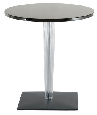 TopTop - Dr. YES Gartentisch mit runder Tischplatte Ø 60 cm - Kartell - Schwarz