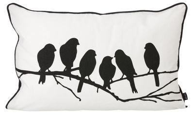 Dekoration - Kissen - Lovebirds Kissen 60 cm x 40 cm - Ferm Living - Schwarz / weiß - Baumwolle, Polyesterfaser