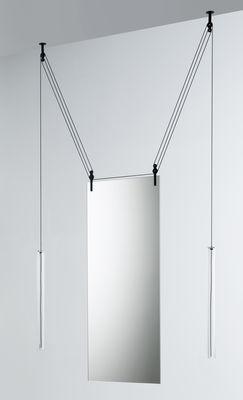 Miroir à suspendre Palanco H 125 cm / Double face - Réglable - Glas Italia noir,transparent en verre
