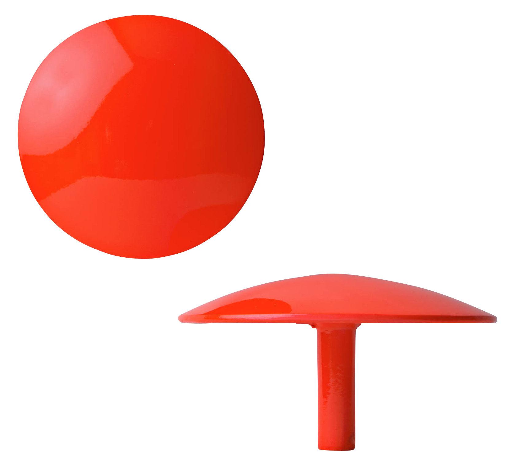 Mobilier - Portemanteaux, patères & portants - Patère Manto fluo - Ø 12 cm - Sentou Edition - Rouge - Ø 12 cm - Fonte d'aluminium laqué