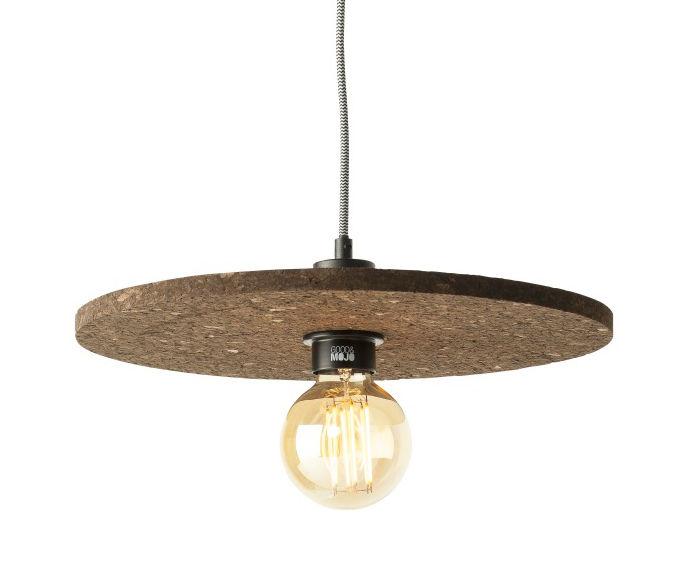 Lighting - Pendant Lighting - Algarve Pendant - / Cork - Ø 40 cm by GOOD&MOJO - Cork - Cork, Metal